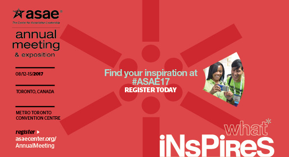 Register for the 2017 ASAE Annual Meeting