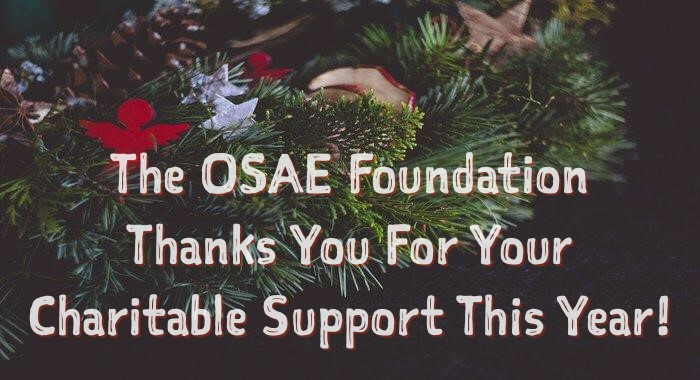 The OSAEF Thanks You for Your Generosity