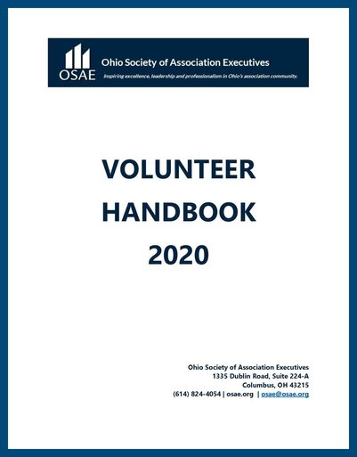 OSAE Volunteer Manual Cover